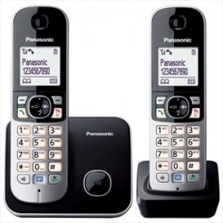Cordless doppio Panasonic KX-TG6812 black