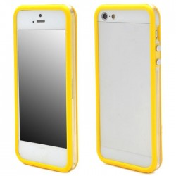 Custodia per Samsung Galaxy S5 trasp/yellow