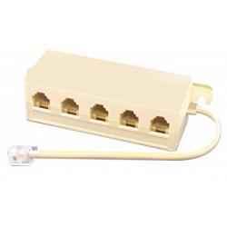 Multipresa telefonica 5 posti plug 4 pin