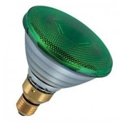 Lampada Incandescenza Spot 80W E27 220V verde