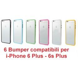 6 Custodie Cdr compatibili di alta qualita' per iPhone 6s Plus, 6 Plus 5.5 vari colori